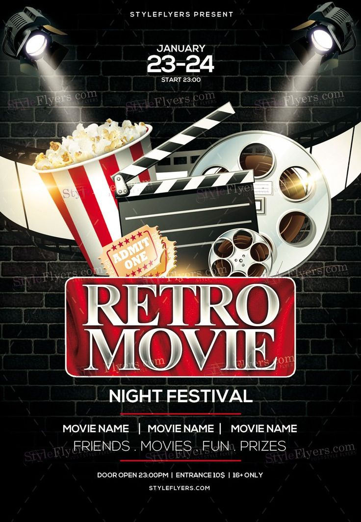 1023 best Flyers images on Pinterest - movie night flyer template