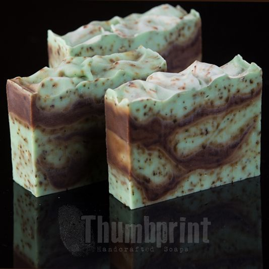 Chocolate Chip Mint Soap with shea butter. An ode to my favorite ice cream flavor, this soap smells good enough to eat!