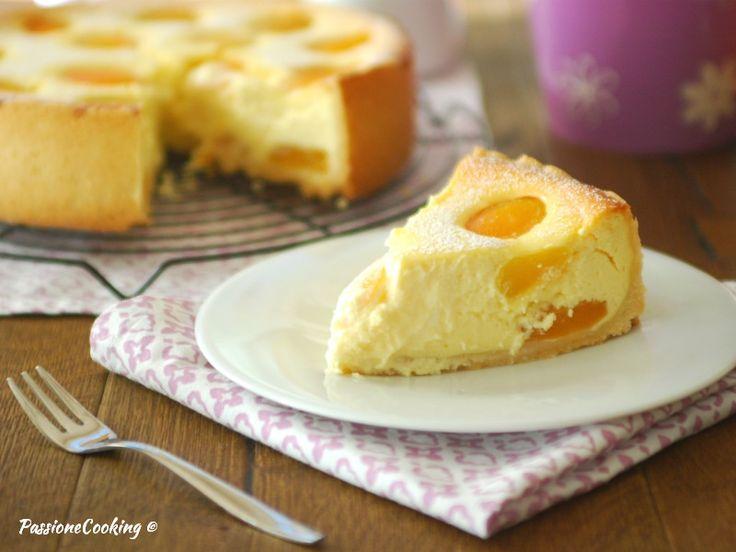 Cheesecake al forno con albicocche