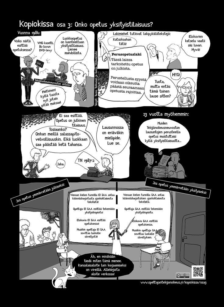 Kopiokissa osa 3. Onko opetus yksityistilaisuus? | Opettajan tekijänoikeus