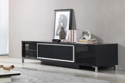 Vig Furniture Modrest Brighton Black Entertainment Center