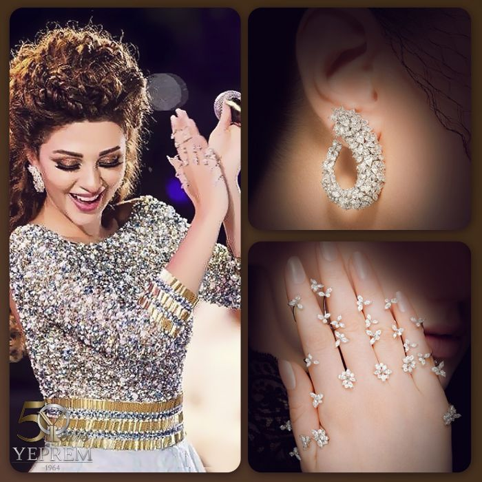 Radiating with stellar elegance, the queen of stage, Myriam Fares, is breathtaking in YEPREM.