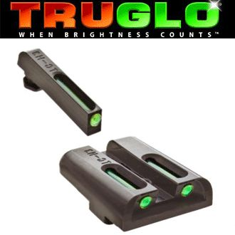 TruGlo - Tritium Fiber Optic Night Sights (Green/Green) - These are the best sights I have ever used and are currently on my Glock 23.  They are bright in the sun and help obtain a quick sight picture.  If you buy, make sure you get the Tritium Fiber Optic because they have several models and not all are the same.  Amazon had these for about $75-80.