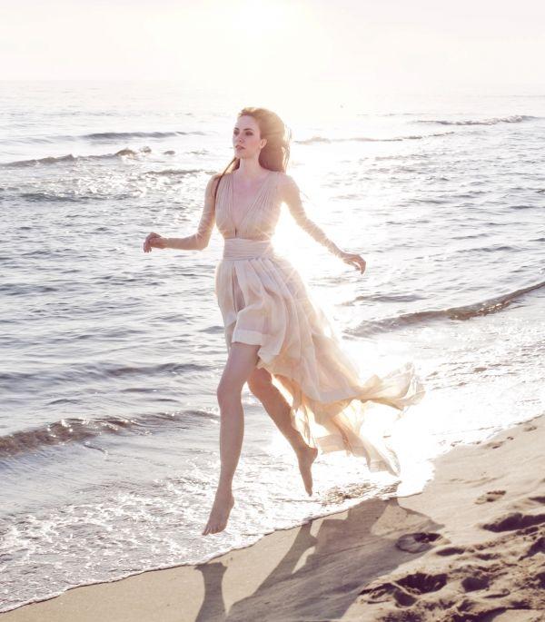 beach wedding dress from Leila Hafzi