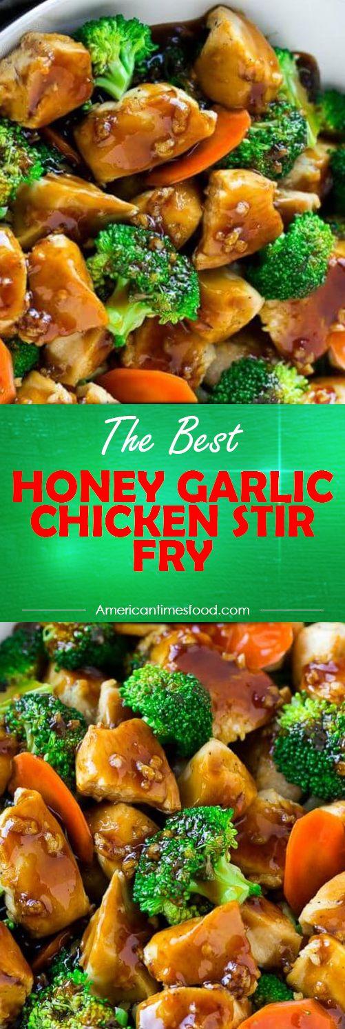 HONEY GARLIC CHICKEN STIR FRY #instantpot #roasted #chicken #yummy #delicious #food #recipes #garlic