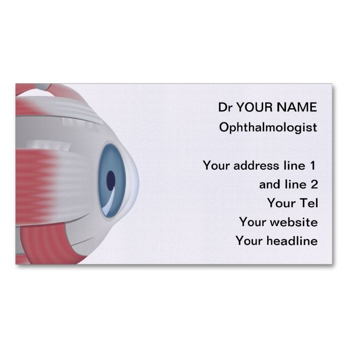 2132 Best Eye Doctor Business Cards Images On Pinterest | Eye