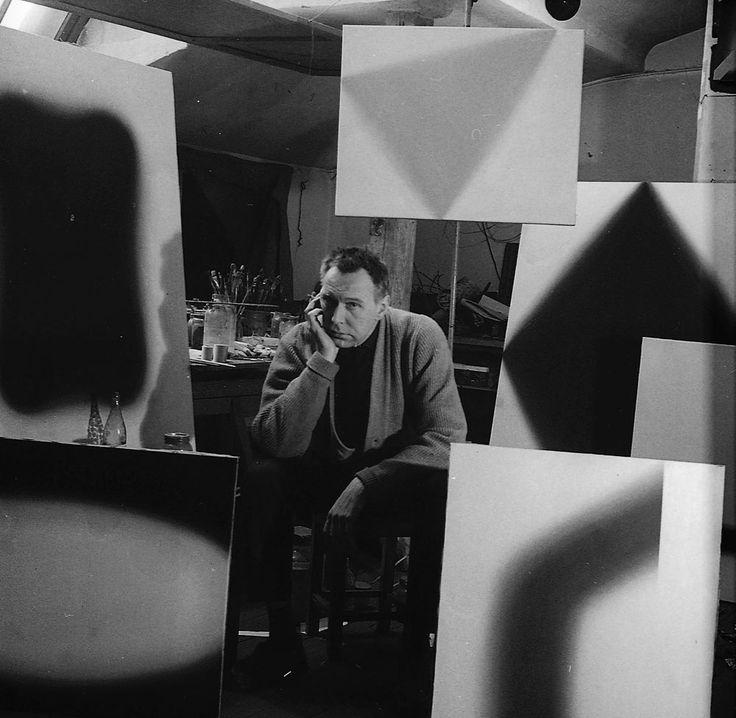 Wojciech Fangor, 1959, Warszawa, fot. Tadeusz Rolke / AG