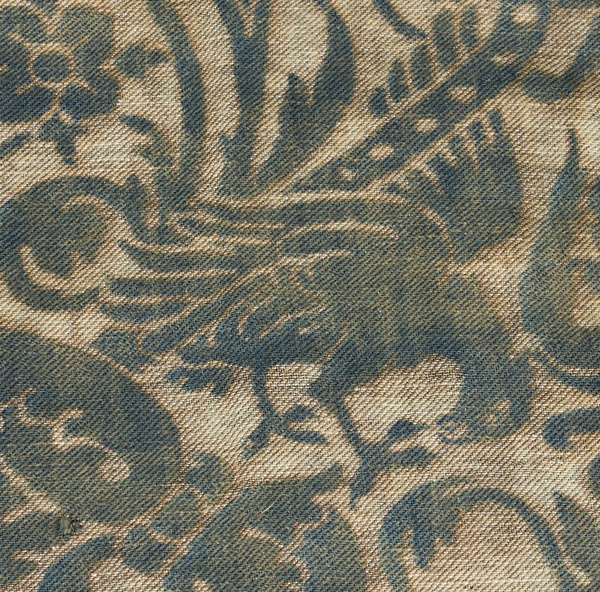Fortuny fabrics at Vintage Textile: #2417 Fortuny Uccelli panel