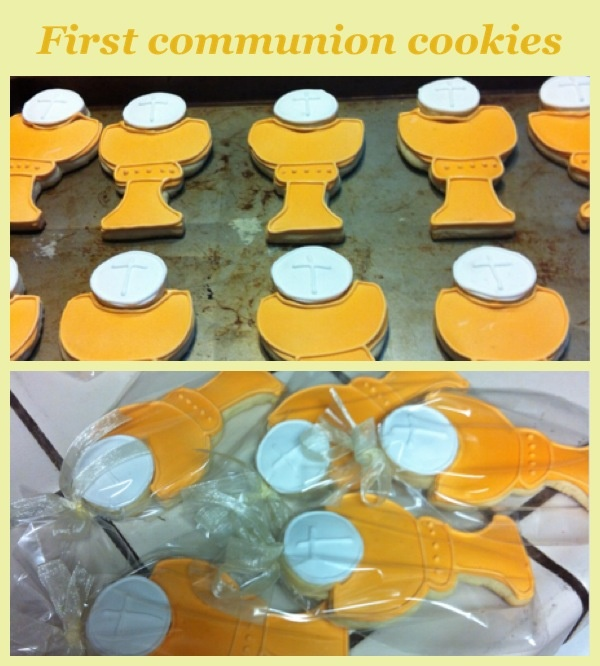 More of my creations: first comunion sugar cookies