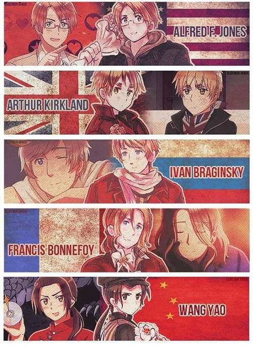 I'm sorry for all the random Hetalia I'm pinning, oh wait, no I'm not! HAHAHA Even though I like the Axis better (not sorry) the Allies are pretty cool too.
