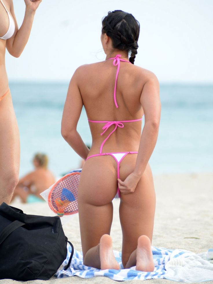 Sexy bikini hot thong ass in