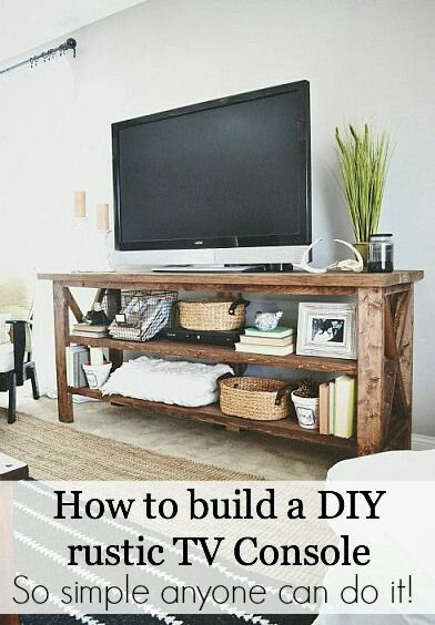 funky junk interiors How to build a DIY rustic TV console - so easy!! http://s.bhome.us/ZdPz3Nla via bHome https://bhome.us
