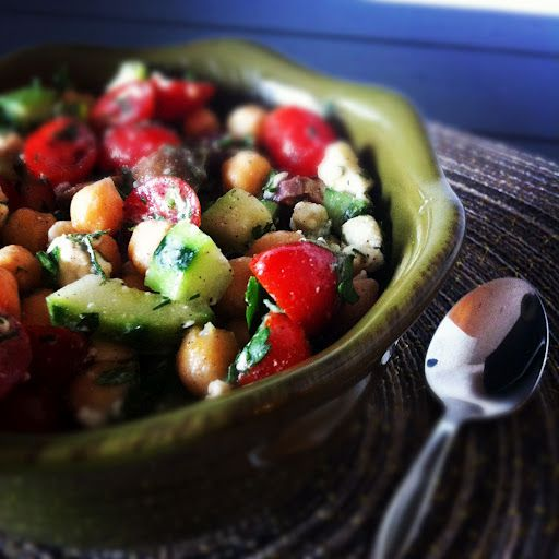 Greek Chickpea Salad | Recipes to Try - Salads | Pinterest