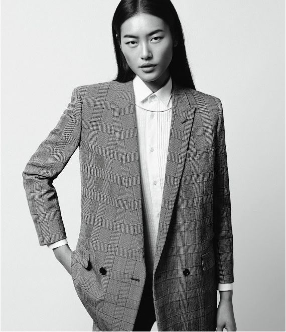 Liu Wen looks stunning in wide-leg trousers and oversized jackets in WSJ May issue. What is there not to love about this editorial?  See more on The Wall at www.elin-kling.com