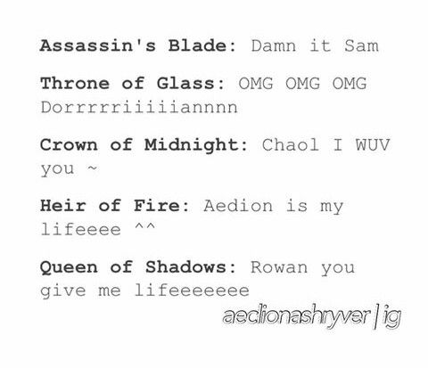 Everything is 100% accurate except.... Crown of Midnight. That wasn't a surprise was it?