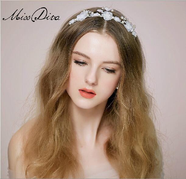 tiara accessori capelli fatti a mano coreano abito da sposa sposa con accessoriall'ingrosso