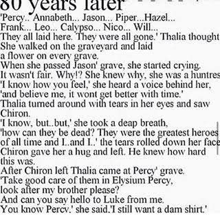 I´m crying right now, Thalia :´( Percy jackson headcanon