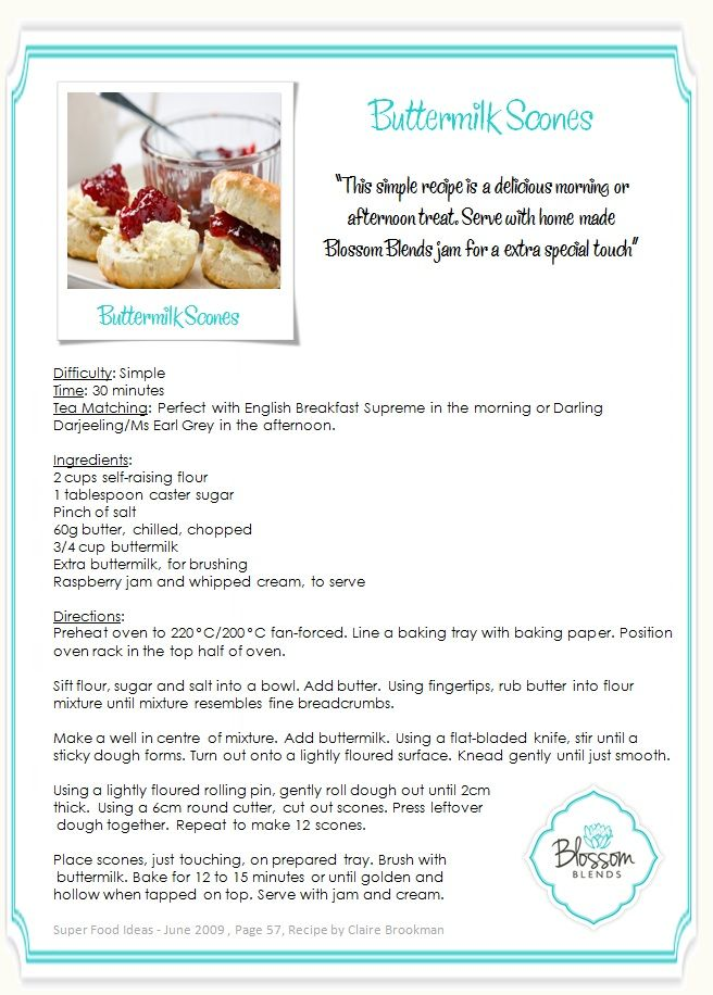 The perfect Scone Recipe perfect for a high tea from the Blossom Blends kitchen. Delicious!  www.BlossomBlends.com.au/TheKitchen