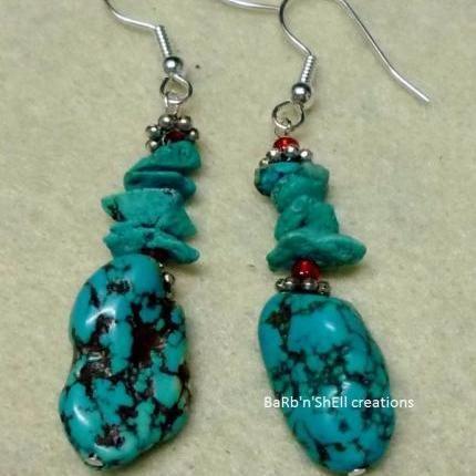 Earrings - Turquoise - BaRb