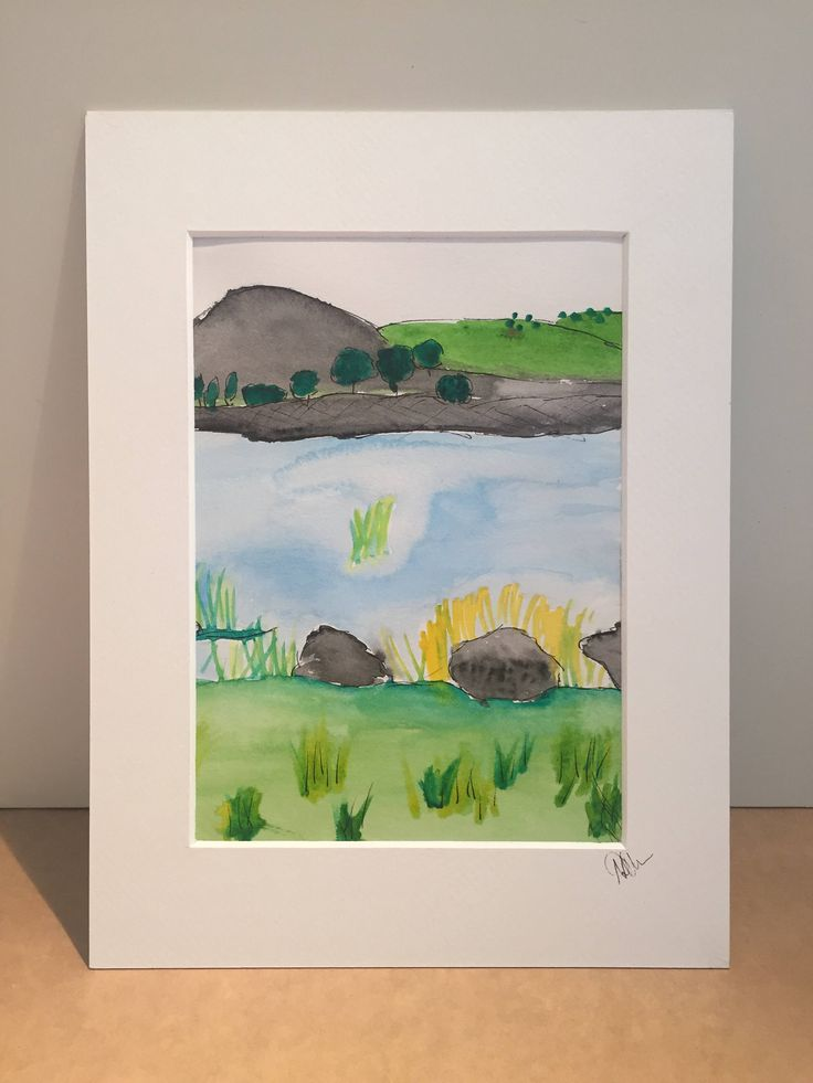 landscape painting, watercolour painting, northumberland, cawfields, hadrians wall, landscape art, painting art original, original painting by LiveLikeAQuinlan on Etsy  This painting is a one off and for sale in my etsy store, get it today!