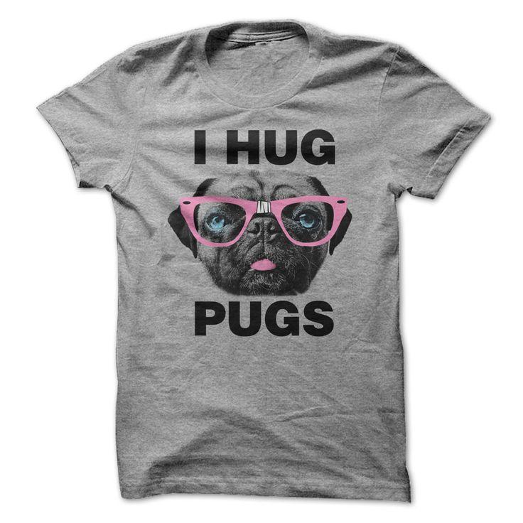 I Hug Pugs funny t-shirt for men, $21 #pugs