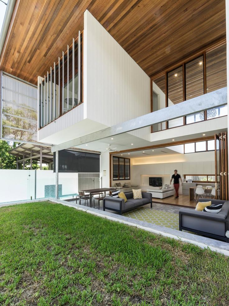 Contemporary Backyard House In Teneriffe Brisbane By Joe Adsett Architects    CAANdesign | Architecture And Home