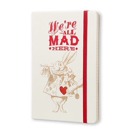 Alice's Adventures in Wonderland We're All Mad Here Large Ruled Notebook on British Library