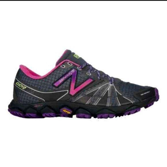 New Balance Trail Running Shoes New without box -Only tried on. Women's running shoes, gray and purple. Size 8.5 New Balance Shoes Athletic Shoes