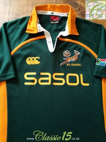 ad82e69dc1f Official Canterbury South Africa home long sleeve rugby shirt from the  2005/06 international season.