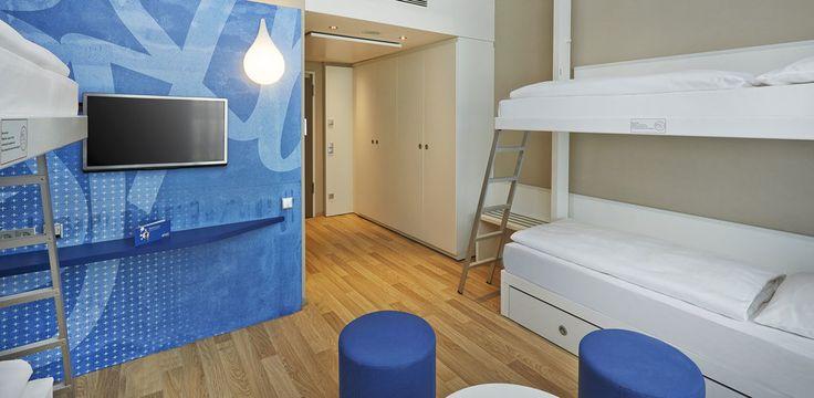 Mehrbettzimmer - bis zu 4 Personen | H2 Hotel München  Messe