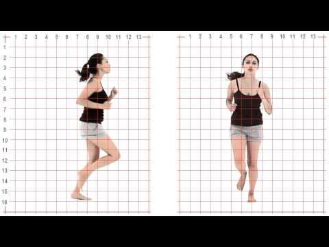 ▶ Jog: young adult female: Grid Overlay - Animation Reference - YouTube