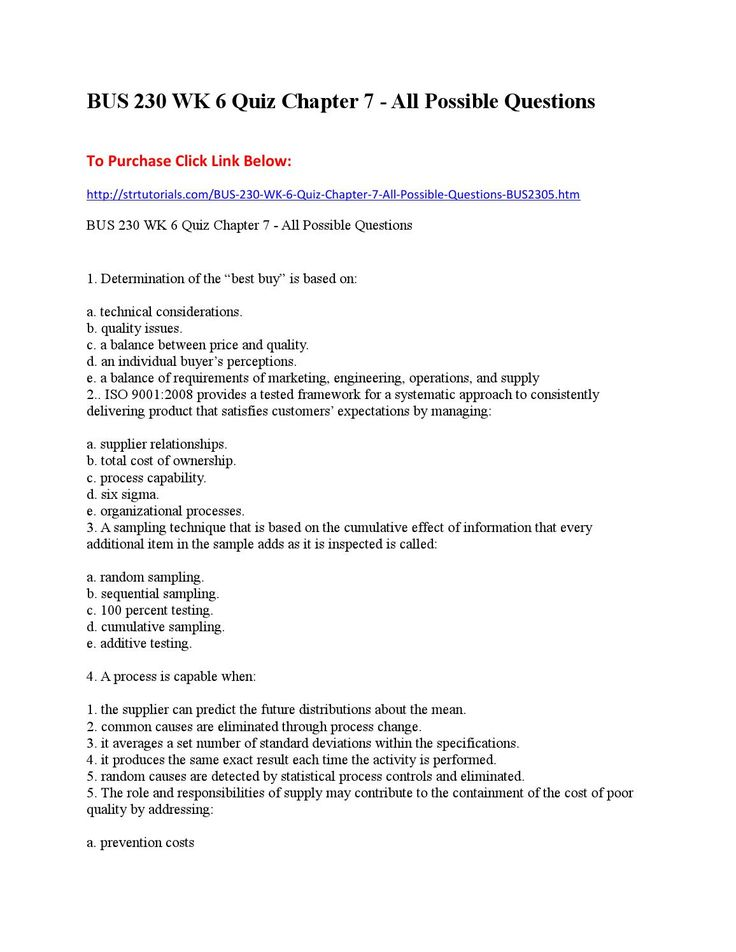 BUS 409 WK 9 Quiz 8 - All Possible QuestionsClick below To Download - bank teller cover letter
