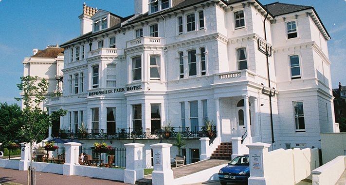 #RoomAuction Hotel: The #Devonshire Park Hotel  Welcome to the Devonshire Park Hotel #Eastbourne. Not on the #seafront, but centrally located just two blocks away, this elegant Victorian Eastbourne Hotel offers clean, #comfortable rooms in a quiet restful #location.