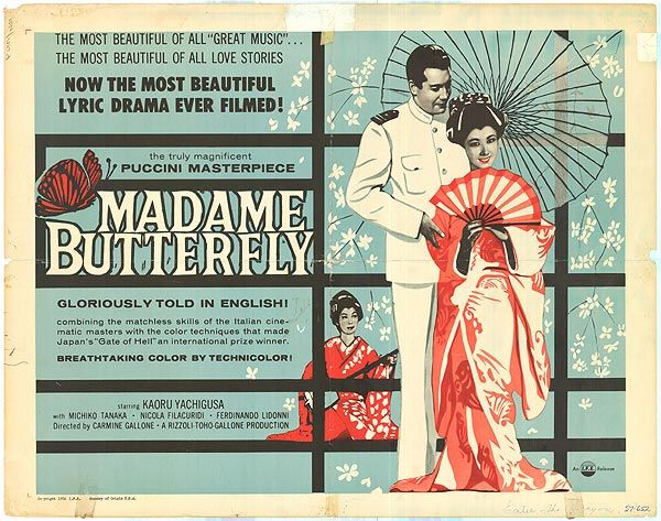 [ MADAME BUTTERFLY POSTER ]Year: 1957 moovie