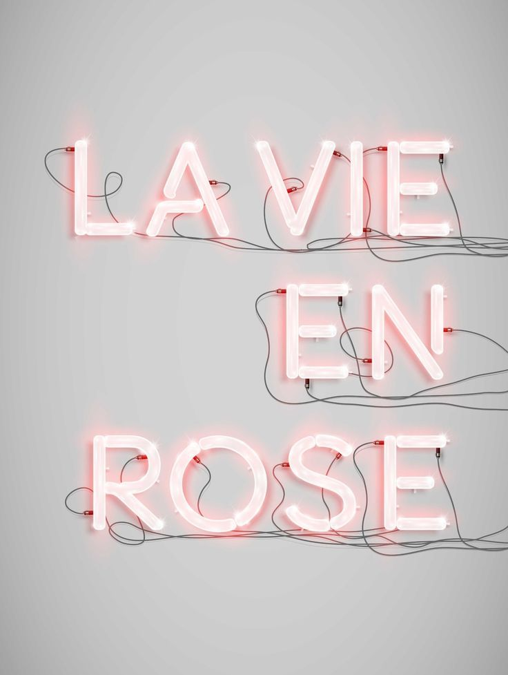 "Néon Alphabet ""La vie en rose"" print - new collection"