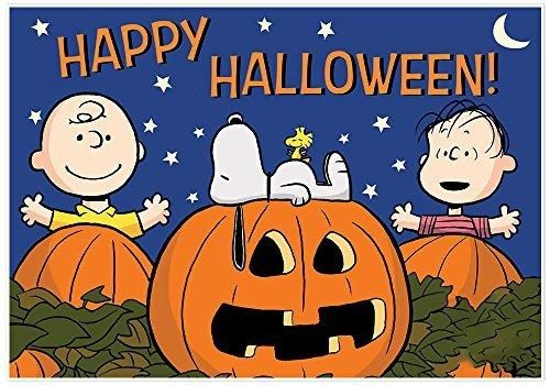 The Great Pumpkin Charlie Brown Snoopy Halloween Decoration Banner
