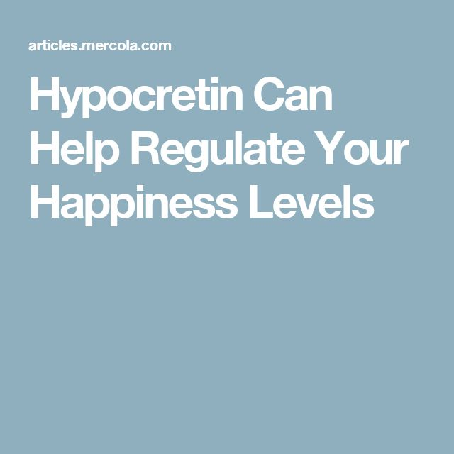 Hypocretin Can Help Regulate Your Happiness Levels