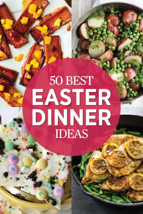 50 Easter Dinner Ideas - Easter Recipes - Hosting family over for yet another holiday meal? Look no further for your menu plans at redbookmag.com.