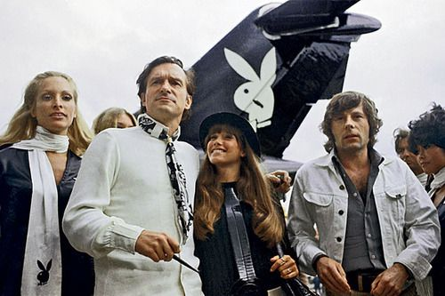 Roman Polanski and Sharon Tate discussing shifting mores with Hugh Hefner on Playboy After Dark, July 1968.