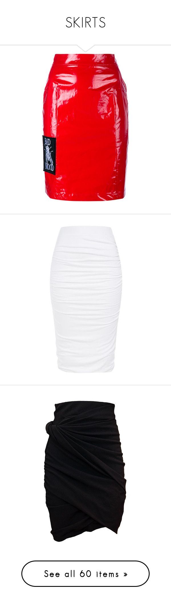 """""""SKIRTS"""" by roexstylez89 ❤ liked on Polyvore featuring skirts, ashley williams, high-waisted pencil skirts, high waisted pencil skirt, red skater skirt, red skirt, skater skirt, bottoms, saias and white"""