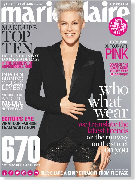 marie claire September 2013. Clipped from ©marie claire Australia using Netpage.