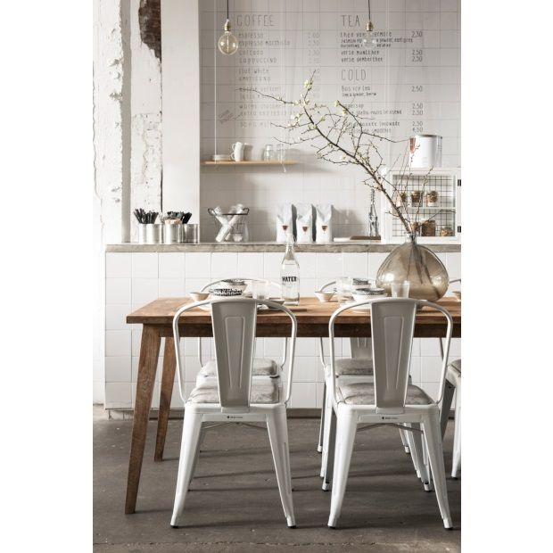 MUST Living Revival eetkamerstoel wit - set van 2 - afbeelding 5