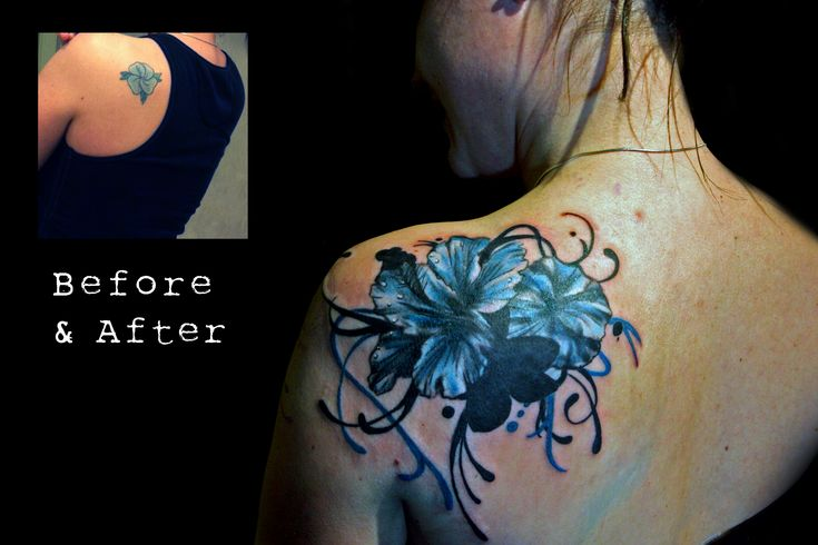 flower cover up tattoo designs | Nice, but not that large - a lot smaller