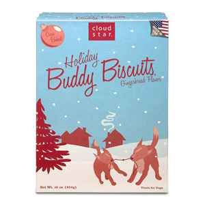 Cloud Star Buddy Biscuits Gingerbread Holiday Dog Treats. These guilt free gingerbread cookies are made with no corn, soy, artificial flavors or additives.
