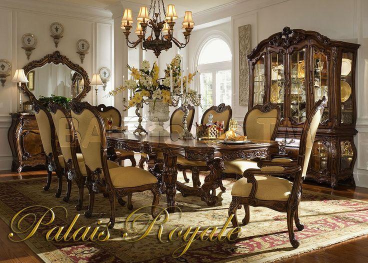 Palais Royale Rectangular Dining Table Set By AICO   Rococo Cognac   35