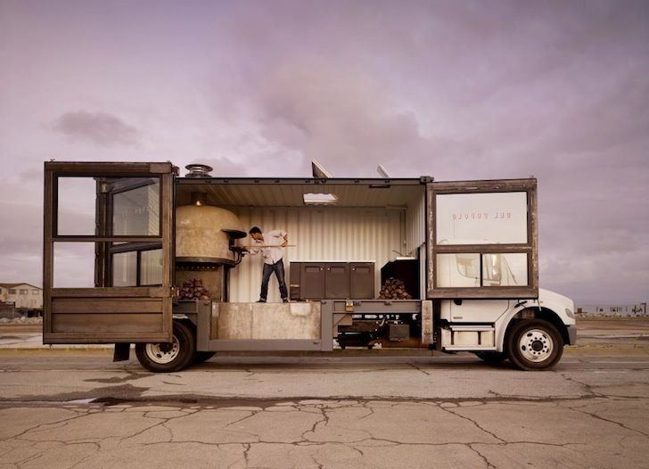 Del Popolo is a Mobile Neapolitan Pizza Joint in a Recycled shipping container