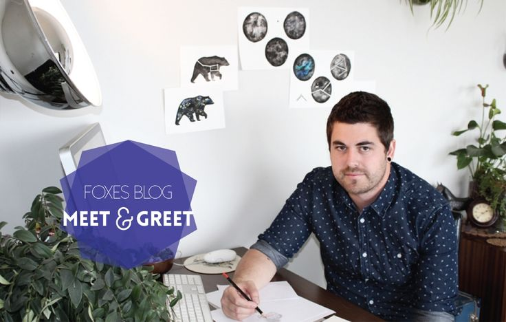 Meet & Greet with Dane Laugesen from With the Wolves, a new illustration label creating gorgeous watercolour constellation illustrations.