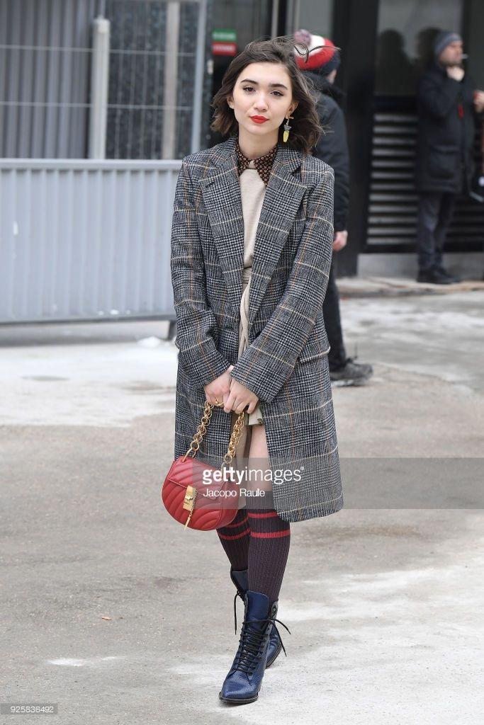 c03545ccbc50 Rowan Blanchard is seen leaving Chloe fashion show during Paris Fashion Week  Womenswear Fall Winter 2018 2019 on March 1