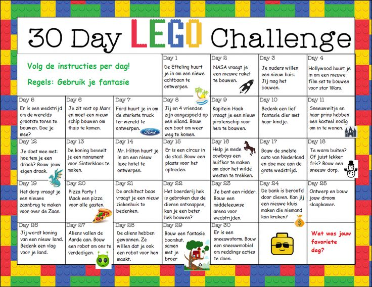 30 dagen lego uitdaging in het Nederlands