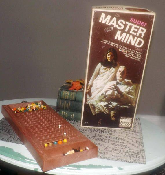 Vintage c.1975 Super Mastermind Board Game published by